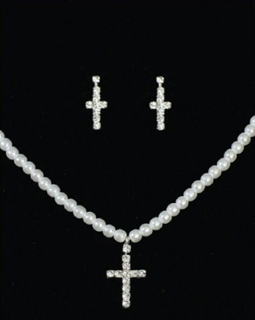 communion neckace and earings